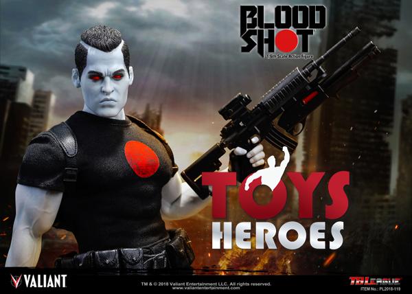 VALIANT COMICS Bloodshot 1//6 Scale Figure by TBLeague non ouvert