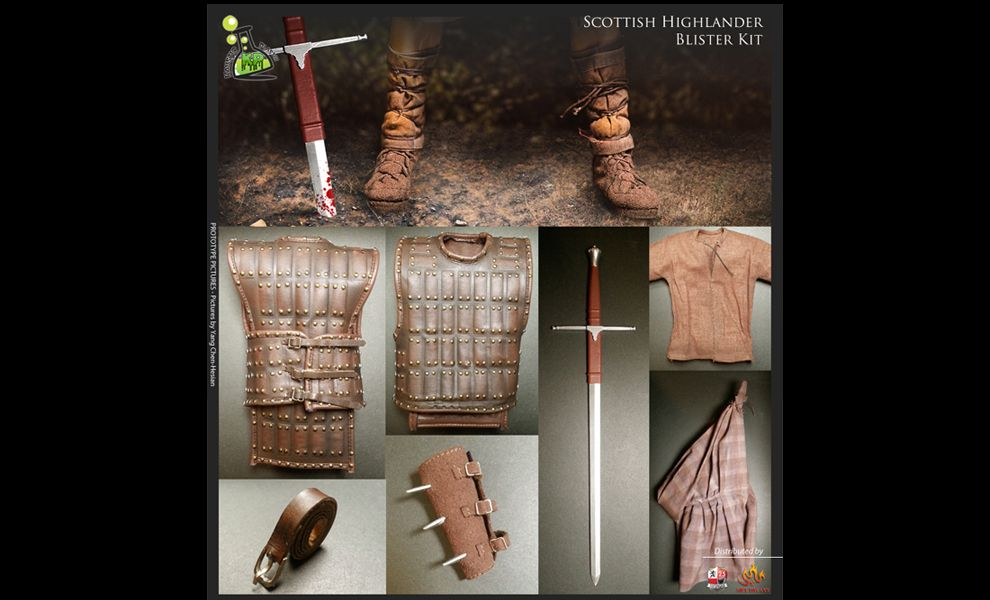 KAUSTIC PLASTIK BRAVEHEART WILLIAM WALLACE Scottish Highlander KP10KIT