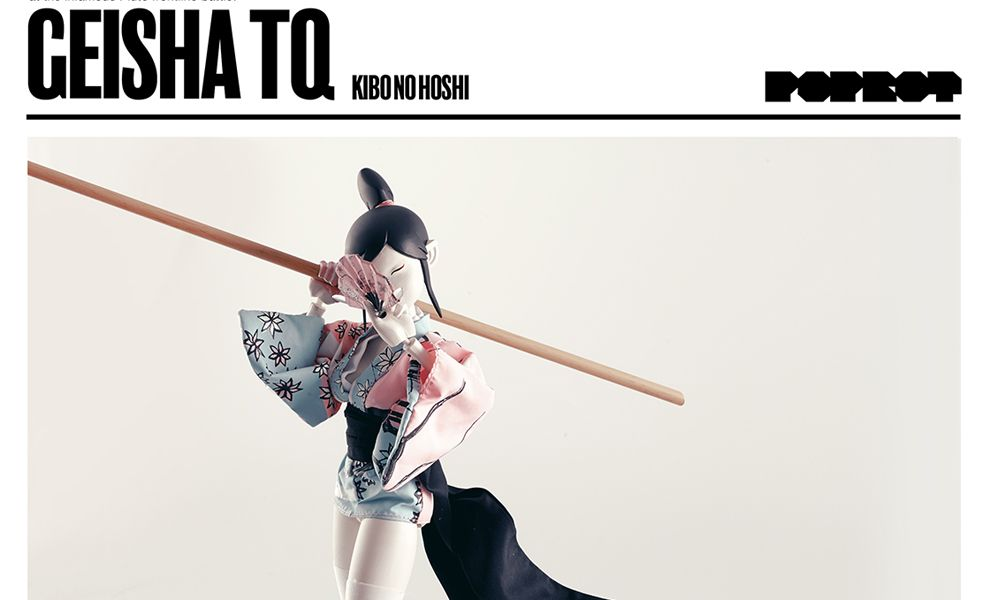 3A THREEA POPBOT GEISHA TQ KIBO NO HOSHI PINK BLUE CLOTHING 1/6th Scale Collectible Figure