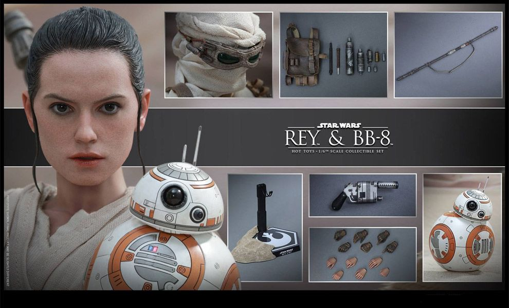 HOT TOYS MMS337 STAR WARS REY & BB-8