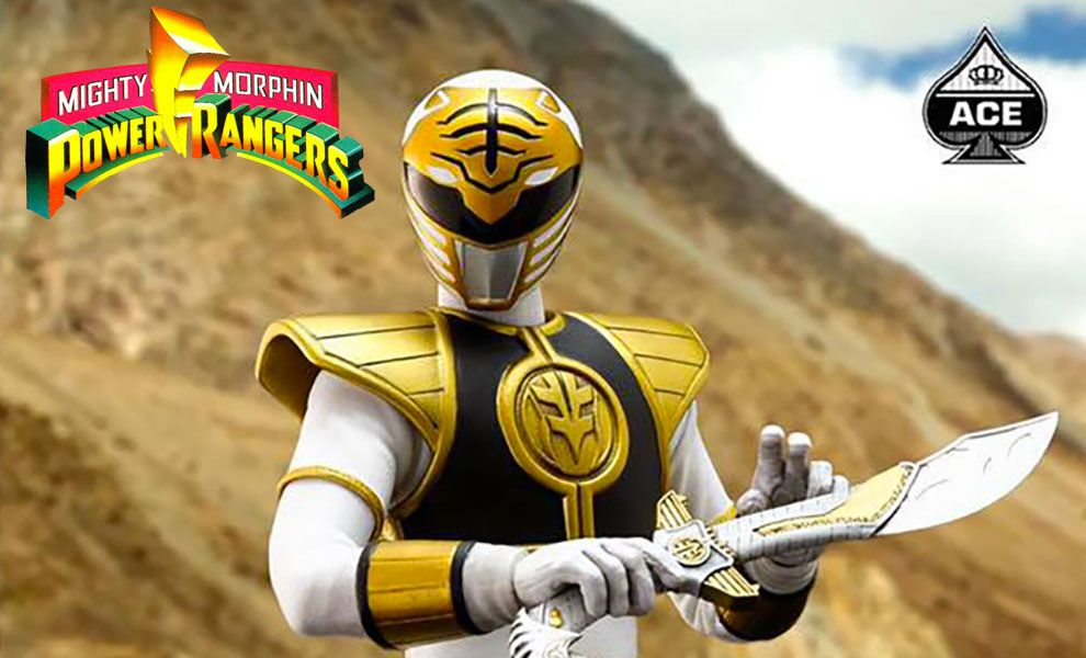 ACE-TOYZ CMSH-07 Power Rangers White Rangers The Classic Mighty Super Hero Banner