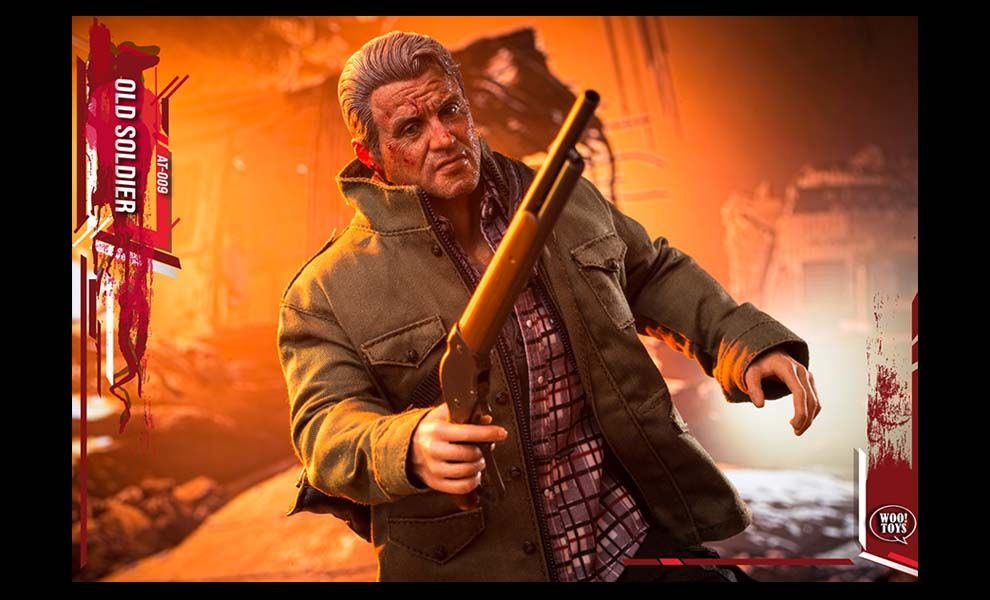 ACE TOYZ AT-009 RAMBO LAST BLOOD OLD SOLDIER SYLVESTER STALLONE BANNER