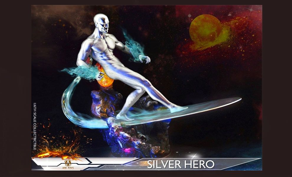 ADD TOYS AD05A SILVER HERO SILVER SURFER LUXURY EDITION BANNER