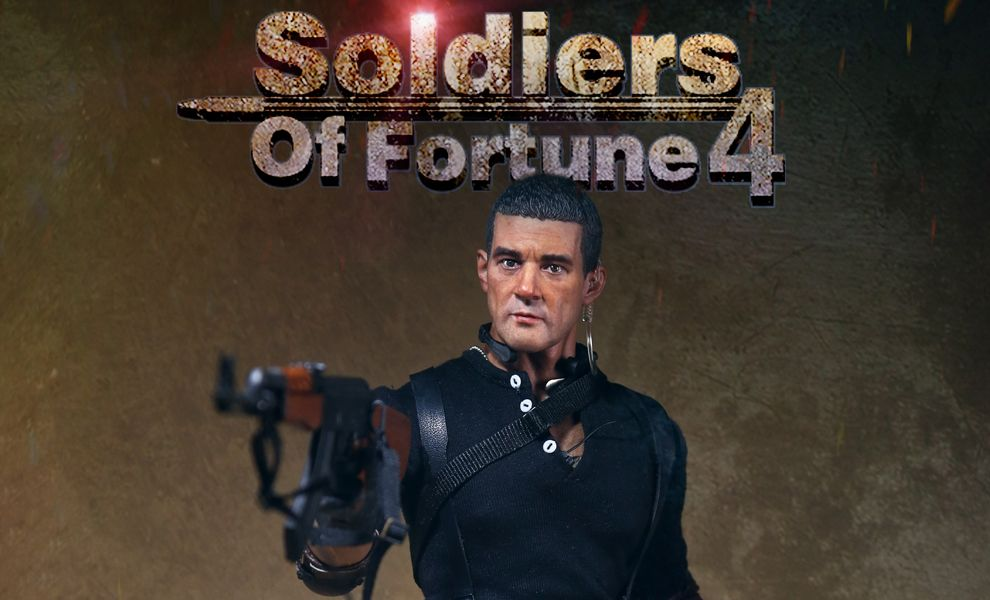 ART FIGURES AF-023 SOLDIERS OF FORTUNE 4 I MERCENARI 4 ANTONIO BANDERAS as GALGO