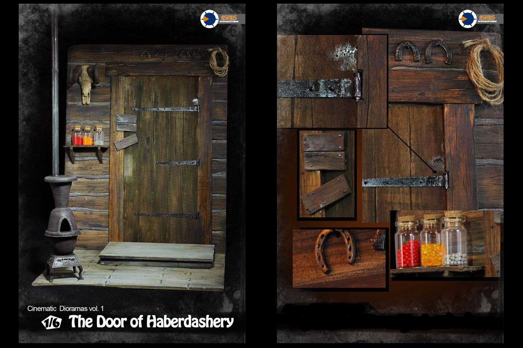 ASMUS-TOYS-CD001-The-Hateful-8-THE-DOOR-OF-HABERDASHERY-CINEMATIC-DIORAMAS