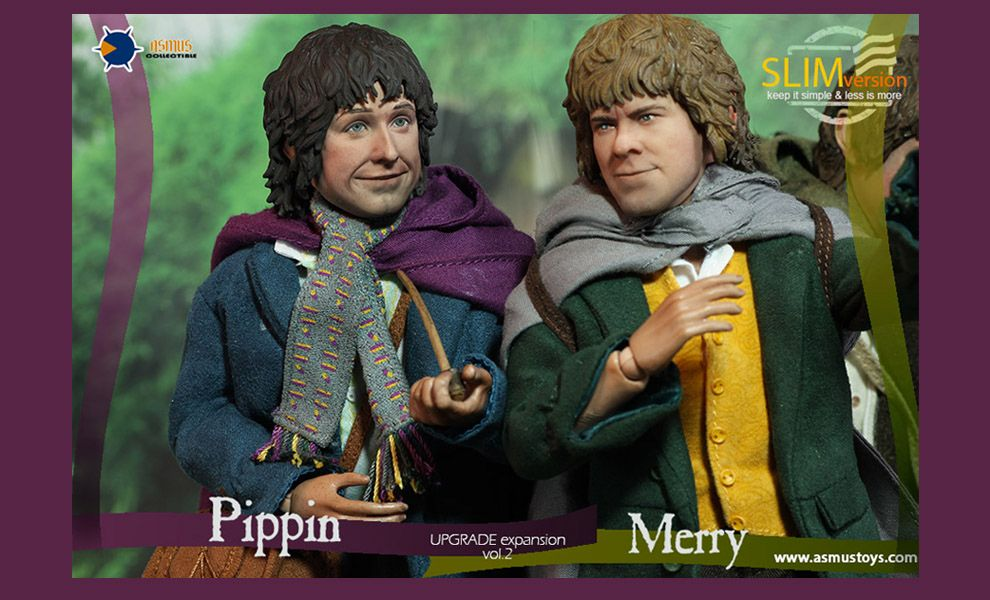 ASMUS-TOYS-LOTR013S-LOTR012S-MERRY-SLIM-VERSION-PIPPIN-SLIM-VERSION-THE-LORD-OF-THE-RING