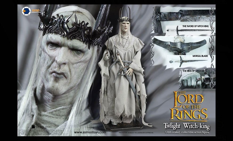 ASMUS TOYS LOTR023 THE LORD OF THE RING SERIES TWLIGHT WITCH-KING BANNER