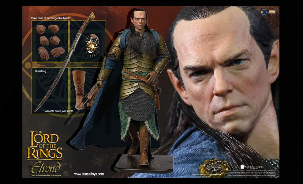 ASMUS TOYS LOTR024 THE LORD OF THE RING SERIES ELROND BANNER