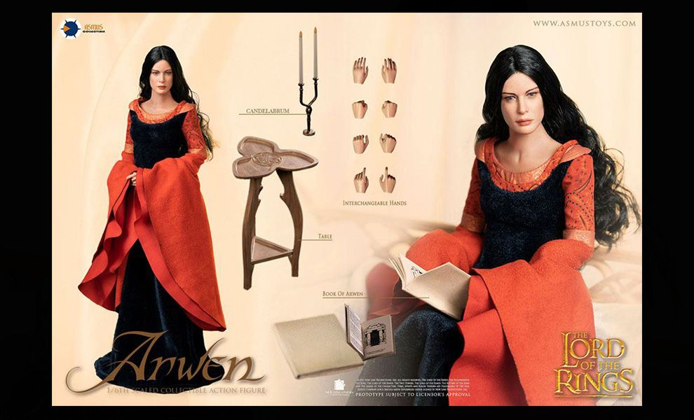 ASMUS TOYS LOTR028 THE LORD OF THE RINGS ARWEN IN DEATH FROCK Banner