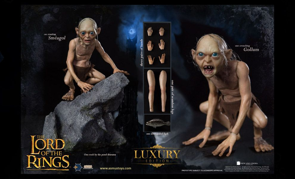 Asmus toys LOTR030LUX Gollum Luxury 1/6 The Lord of the Rings Banner