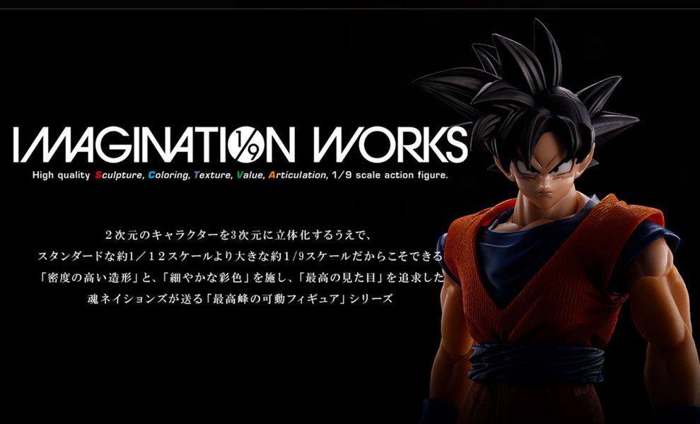 Bandai Tamashii Nation Dragon Ball Z Imagination Works Action Figure 1/9 Son Goku 18 cm Banner