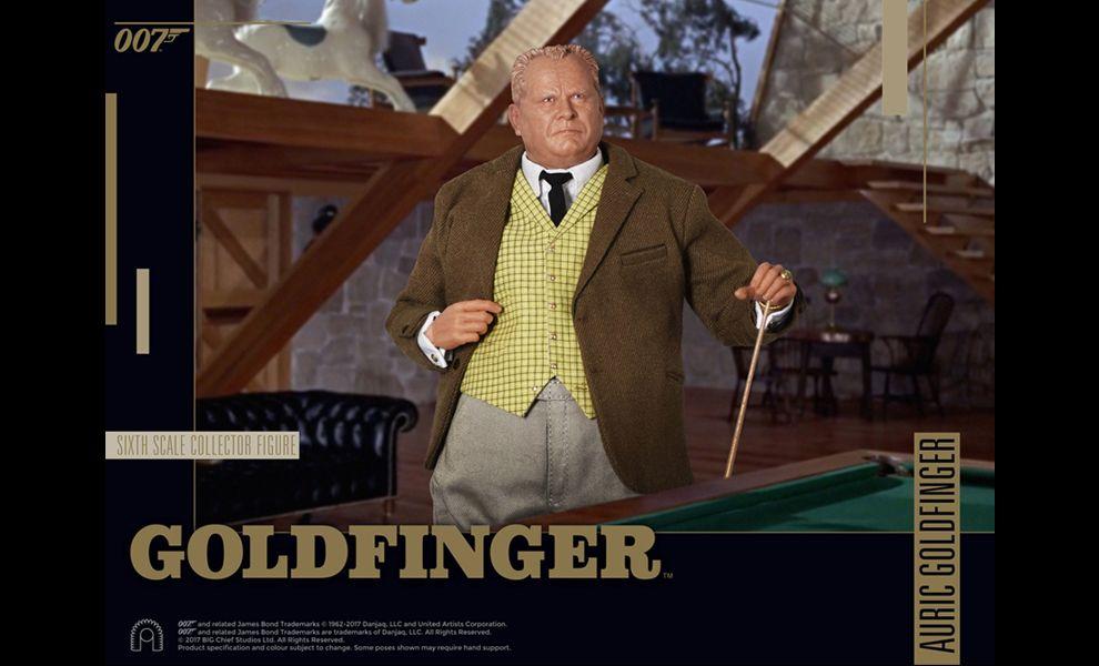 BIG CHIEF STUDIOS 007 GOLDFINGER AURIC GOLDFINGER 1/6 COLLECTOR FIGURE SERIES