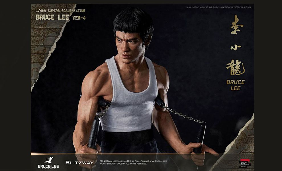 Blitzway BW-SS-20901 Bruce Lee Tribute Statue version 4 Statue Scale Hybrid Type Statue Banner