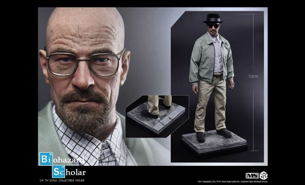 CGLTOYS MS01 Breaking Bad Walter White STATUE 1/4 BIOHAZARD SCHOLAR
