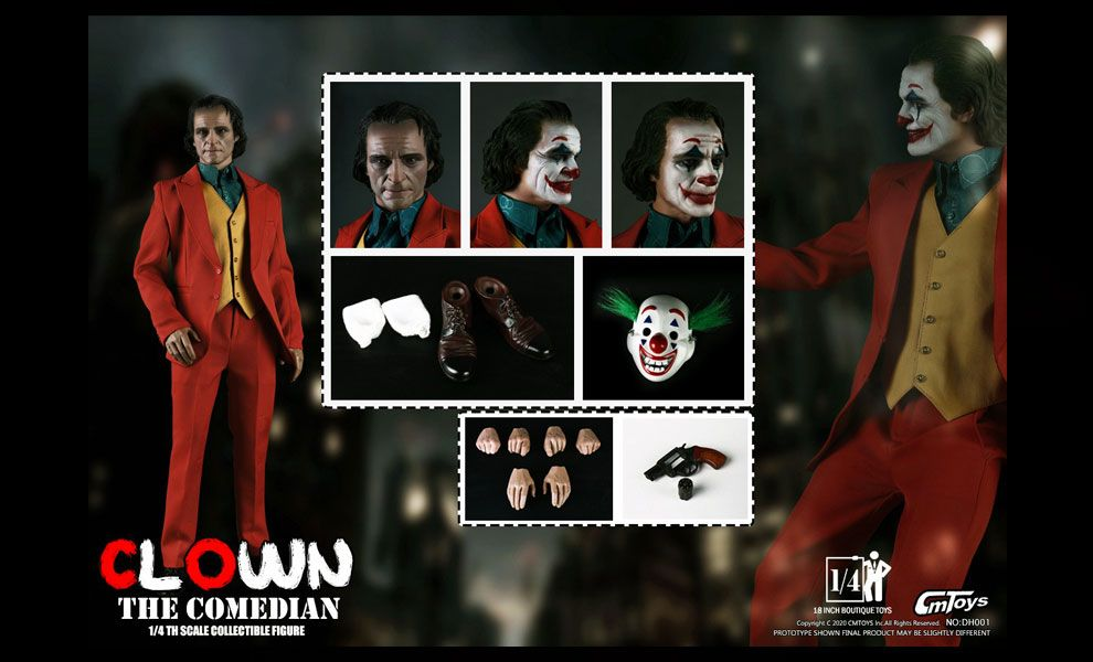 CMTOYS DH001 Joker film 2019 Joaquin Phoenix as Joker Clown The Comedian
