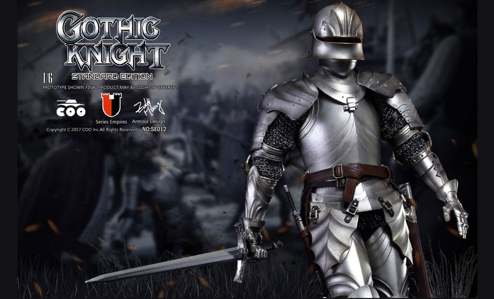 COOMODEL-NO-SE012-SERIES-OF-EMPIRES-GOTHIC-KNIGHT-DIE-CAST-ALLOY-STANDARD-EDITION