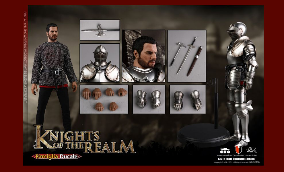 COOMODEL-SE036-DIE-CAST-ALLOY-SERIES-OF-EMPIRES-KNIGHTS-OF-THE-REALM-FAMIGLIA-DUCALE