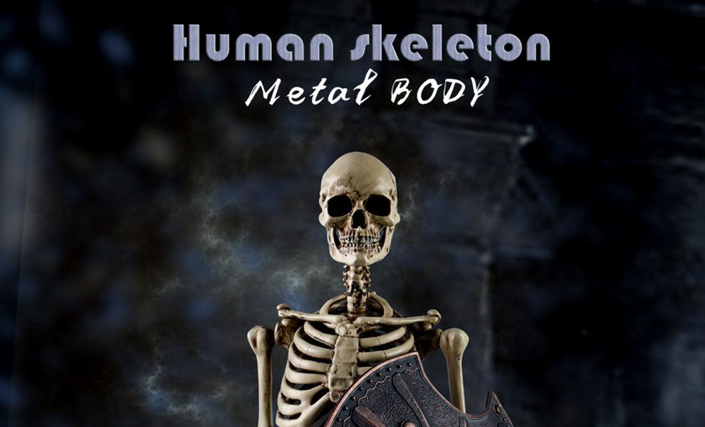 COOMODEL BS011 THE HUMAN SKELETON DIECAST ALLOY