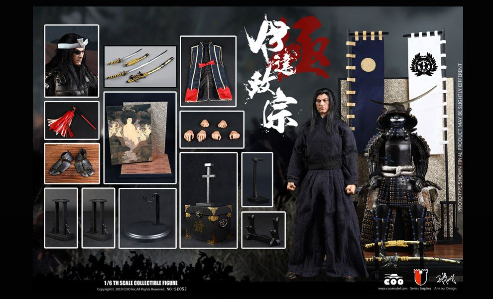 COOMODEL NO.SE052 1/6 SERIES OF EMPIRES - DATE MASAMUNE MASTERPIECE UNIQUE VERSION BANNEr