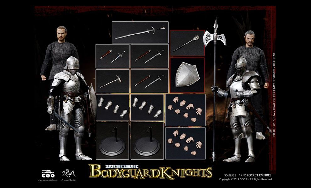 COOMODEL PE012 PALM EMPIRES 1/12 BODYGUARD KNIGHTS DOUBLE FIGURE SET