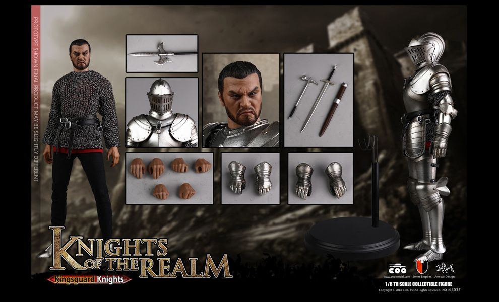 COOMODEL SE037 DIE-CAST ALLOY SERIES OF EMPIRES KNIGHTS OF THE REALM KINGSGUARD