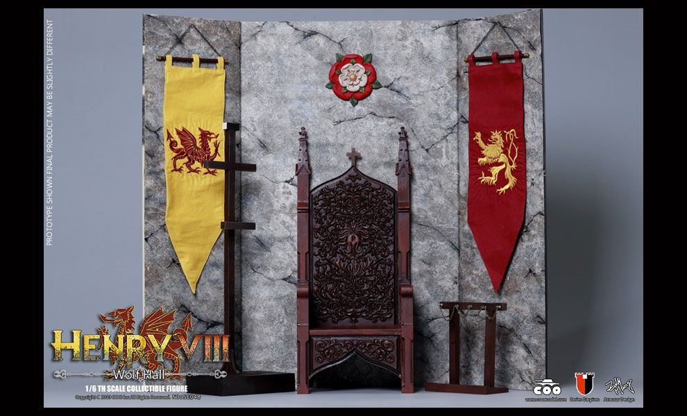 COOMODEL SE048 DIE-CAST ALLOY SERIES OF EMPIRES HENRY VIII WOLF HALL VERSION  DISPLAY SET