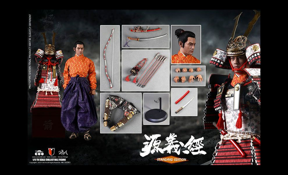 COOMODEL-SE061-SERIES-OF-EMPIRES-DIECAST-ALLOY-MINAMOTO-NO-YOSHITSUNE-STANDARD-VERSION
