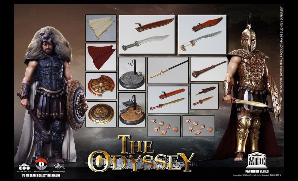 COOMODEL X HOMER HS005 1/6 PANTHEON SERIES ODYSSEY DOUBLE FIGURE SET ARES & HERCULES BANNER