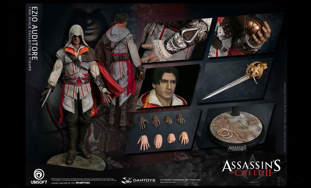 Damtoys DMS012 Assassin's Creed II Ezio Collectible Figure Banner