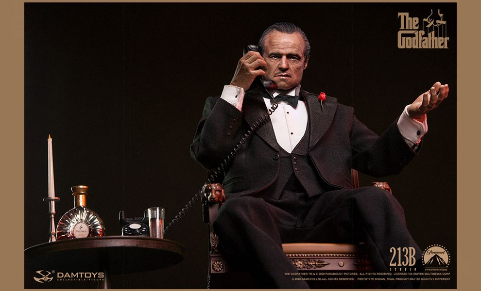 DAMTOYS DMS032 The Godfather Vito Corleone 1/6 Action figure Banner
