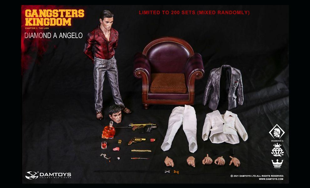DAMTOYS GK023 Scarface Tony Montana Gangsters Kingdom DIAMOND A ANGELO Banner