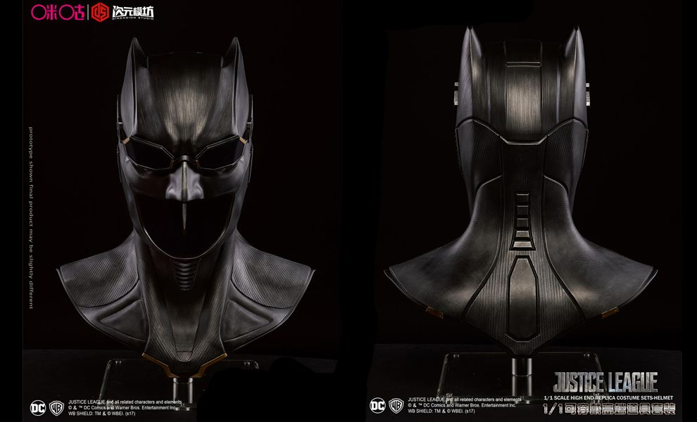DIMENSION STUDIO JUSTICE LEAGUE 1/1 HIGH END REPLICA COSTUME BATMAN HELMET