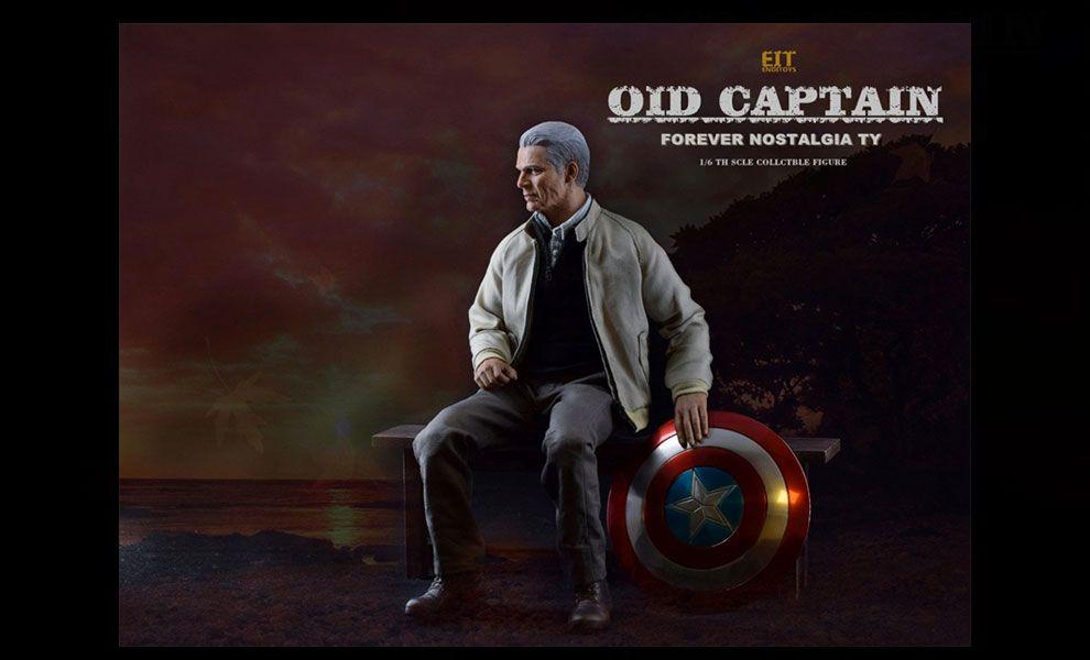 End I Toys EIT010 Captain America Old Captain Forever Nostalgia TY Avenger End Game Banner