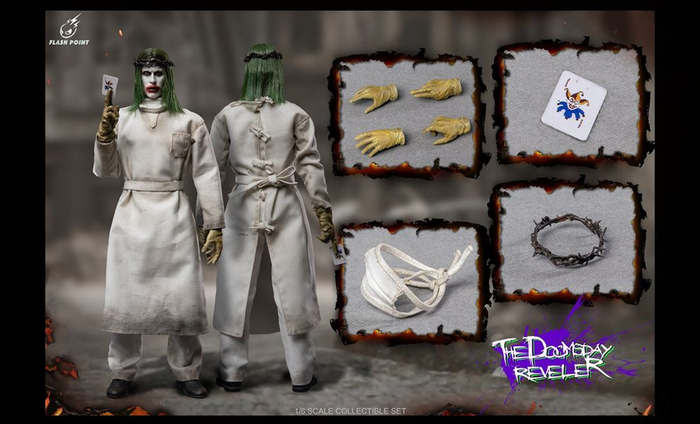 Flashpoint Studio FP-22156A 1/6 Joker Doomsday Reveler Standard Edition Justice League Banner