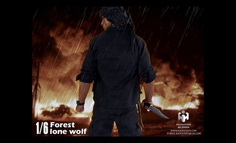 Hao Yu TOYS ZH004 UNCLE WOLF RAMBO SYLVESTER STALLONE