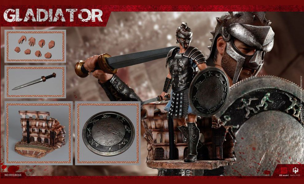 HHmodel & HaoYuTOYS HH18016 Gladiator Empire Legion-Empire Gladiator Russell Crowe Standard Edition Banner