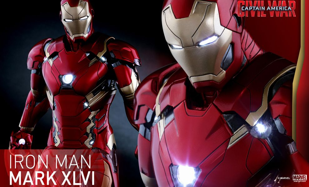 HOT TOYS PPS003 CAPTAIN AMERICA CIVIL WAR IRON MAN XLVI