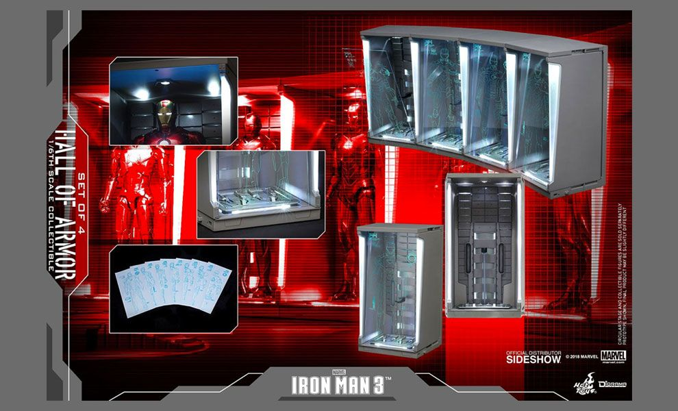 Hot-Toys-DS001B-Iron-Man-3-Hall-Of-Armor-Set-Of-4-Diorama