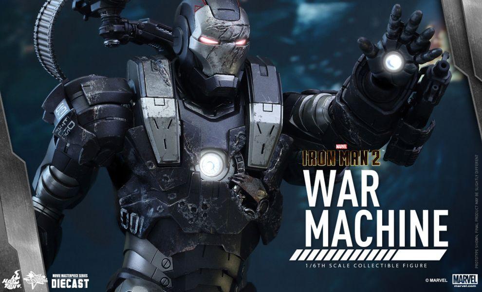 HOT TOYS MMS331D13 IRON MAN-2 WAR MACHINE DIE CAST
