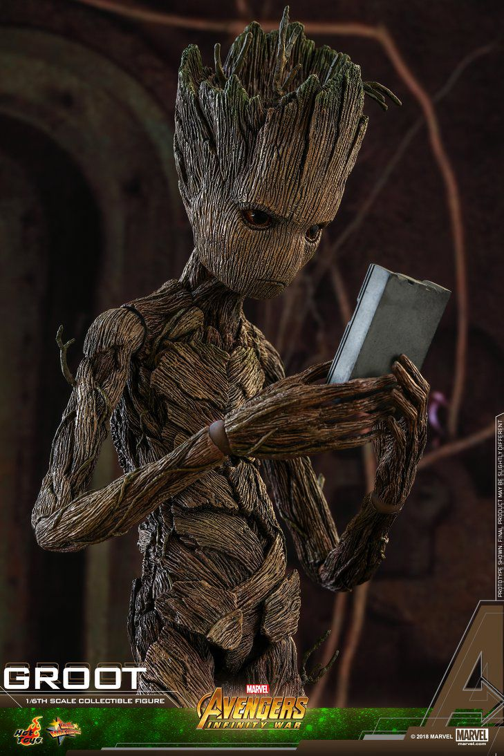 Hot Toys Mms475 Avengers Infinity War Groot Action