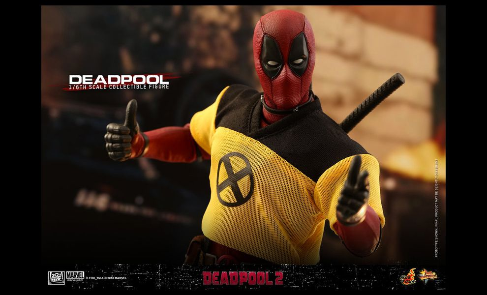 Hot Toys 1//6th MMS490 Deadpool 2 White Unicorn Model Toy