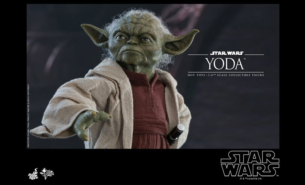 Hot Toys MMS 495 Star Wars Episode II Attack of the Clones Yoda 1//6 Figure NEW