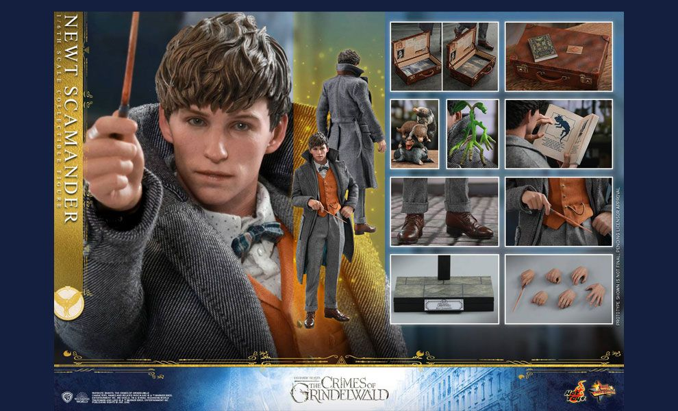 HOT TOYS MMS512 FANTASTIC BEASTS THE CRIMES OF GRINDELWALD NEWT SCAMANDER