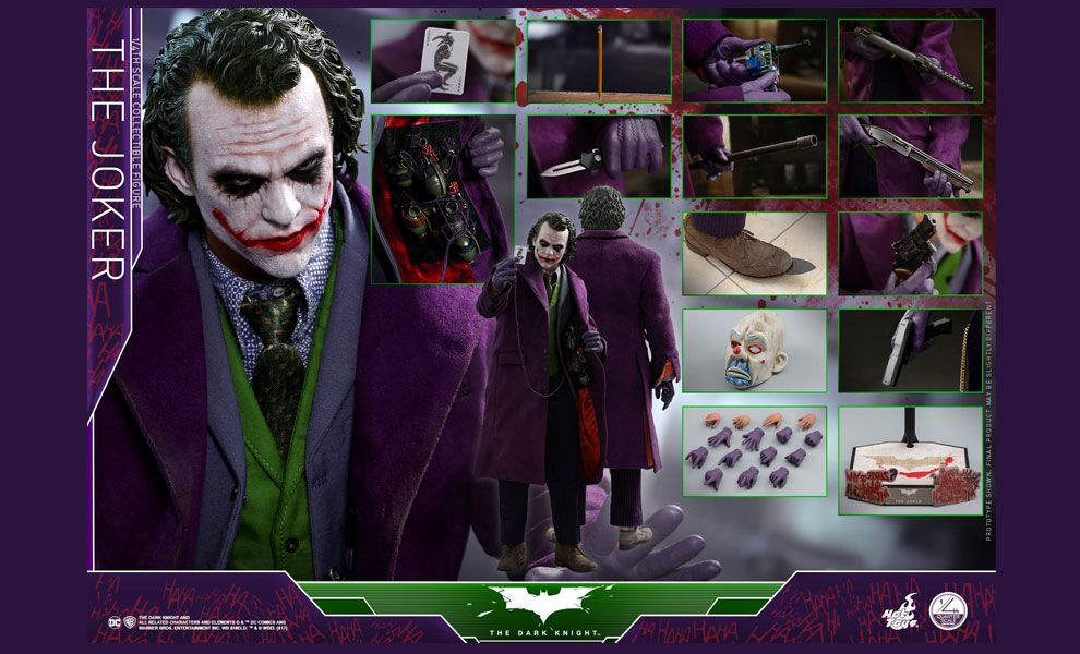 HOT TOYS QS010 THE DARK KNIGHT THE JOKER 1/4th HEATH LEDGER