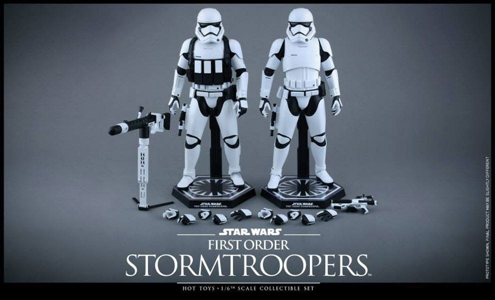 HOT TOYS MMS319 STAR WARS FIRST ORDER STORMTROOPERS DUO PACK