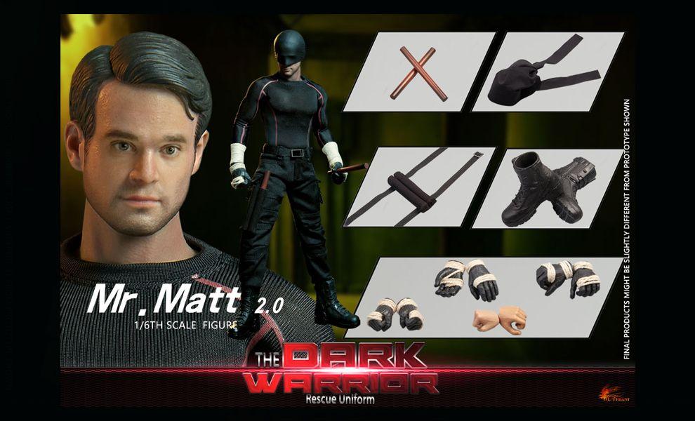 HOT HEART FD010A DAREDEVIL Mr. Matt Murdock The Dark Warrior Rescue Uniform BANNER