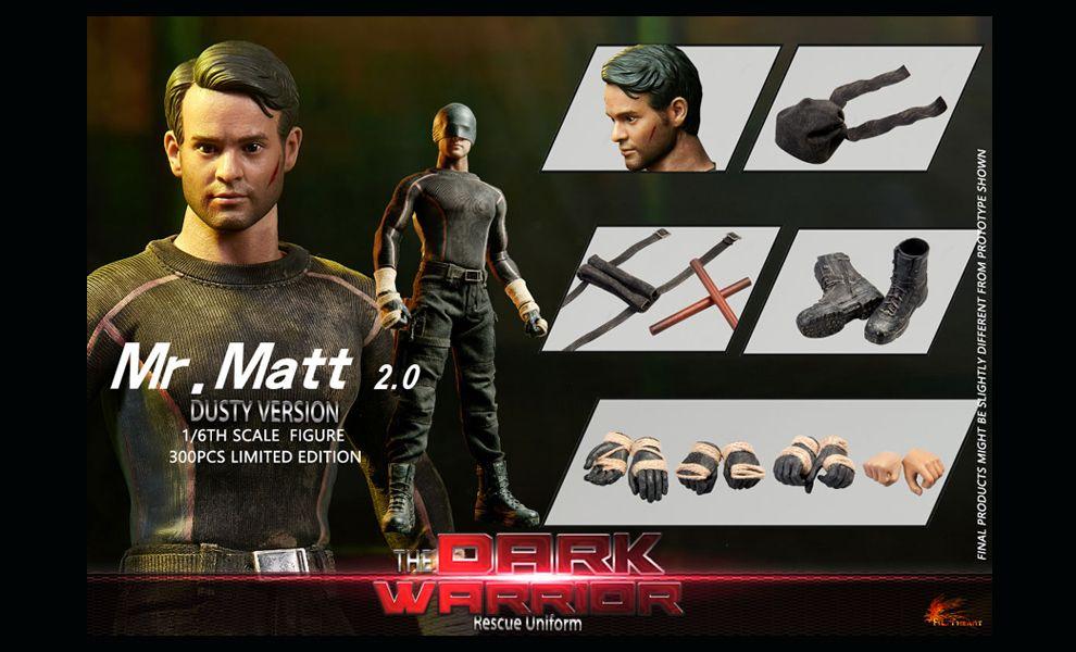 HOT HEART FD010B DAREDEVIL Mr. Matt Murdock The Dark Warrior Rescue Uniform Dusty Version Banner