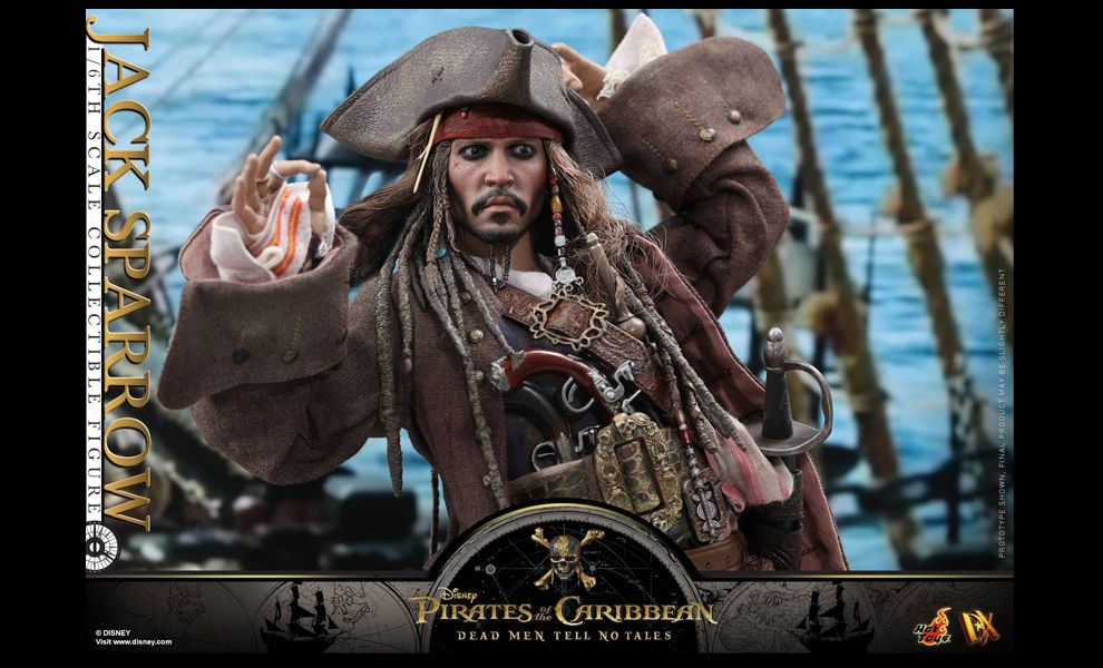 HOT TOYS DX15 JACK SPARROW 1/6 PIRATES OF THE CARIBBEAN DEAD MEN TELL NO TALES
