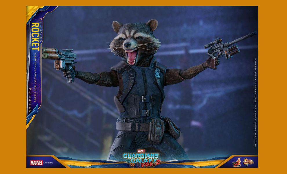 HOT TOYS MMS410 GUARDIANS OF THE GALAXY VOL.2 ROCKET