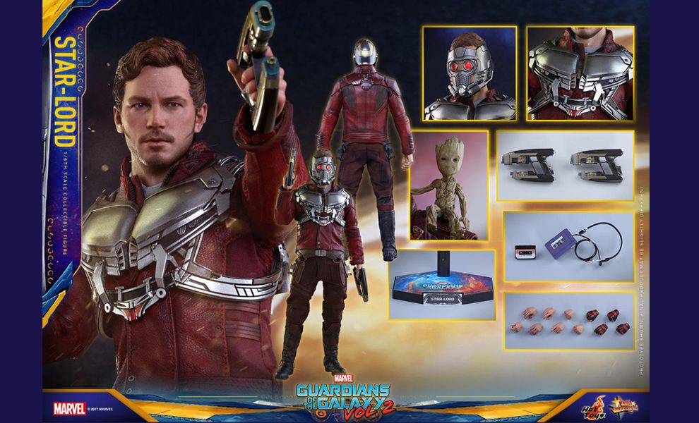 HOT TOYS MMS420 GUARDIANS OF THE GALAXY VOL.2 STAR LORD